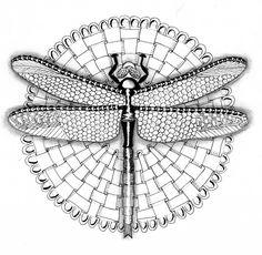 Efie goes Zentangle: Ben Kwok dragonfly