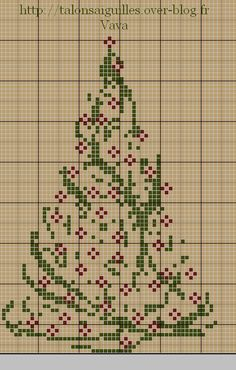 stylized christmas cross stitch tree