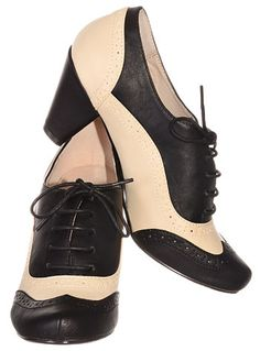 Vintage Style The Bees Knees Oxford Heels by Chelsea-Crew | Pumps & Heels | PLASTICLAND