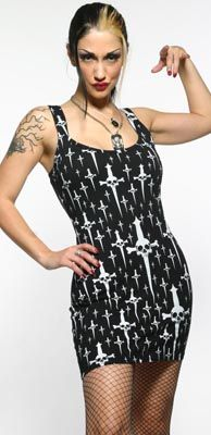 "LIP SERVICE Trash & Dagger ""Trash Talk"" mini dress #56-295"
