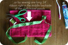 WhiMSy love: DIY: Washcloth Travel Pouch