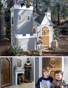 Very unique play house ideas!