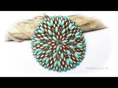Tutorial con perline superduo e lentil, ciondolo Alessandra DIY 75marghe75