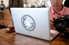 Camera Dial Laptop Decal from Photojojo $18 #photography