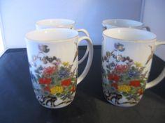 Asian Mugs Great Detail Set Of 4