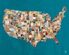 Hello America Canvas Wall Art