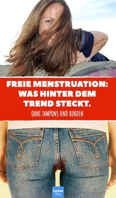 Freie Menstruation: Was hinter dem Trend steckt. #menstruation #periode #regelschmerzen #tampons #binden #menstruationstasse #blut #trend #erdbeerwoche #tage