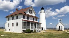 As the oldest continuously working lighthouse in Maryland, Cove Point Lighthouse is open to guests who can spend the night in the renovated keeper's duplex. The lighthouse is also situated near some great beaches to relax on. (Wikimedia Commons/Acroterion) | Most Unique Place to Spend the Night in Every State (PHOTOS) | The Weather Channel