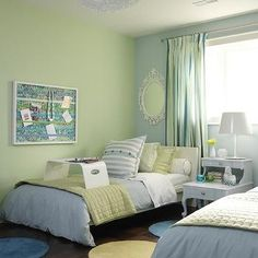 Green and Blue Kids Room