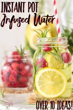 Infused water in the Instant Pot is quick and super tasty. Making Instant Pot infused water means EASILY staying hydrated all the time!