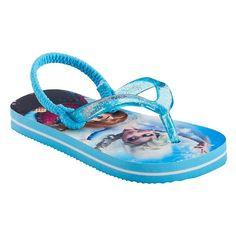 Disney's Frozen Elsa & Anna Toddler Girl Glitter Thong Flip-Flops, Size: 9-10, Silver