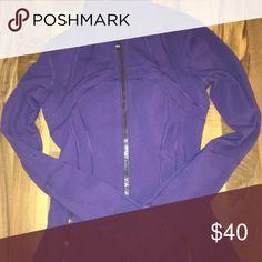 lululemon warm up jacket purple lululemon warm up jacket- super soft lululemon athletica Jackets & Coats