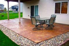 Concrete Patio Ideas On A Budget - Diy Patios On A Budget Best Concrete Patio Designs Ideas Diy Backyard Patio Part 2 Budget Backyard Backyard Makeover 9 Diy Cool Creative Patio Floorin. Concrete Patios, Concrete Patio Designs, Cement Patio, Painted Patio Concrete, Concrete Patio Extension Ideas, Colored Concrete Patio, Concrete Color, Concrete Projects, Concrete Slab