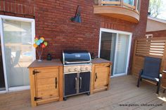 Basic Kitchen Area Concepts For Inside or Outside Kitchen areas – Outdoor Kitchen Designs Patio Kitchen, Outdoor Kitchen Design, Backyard Layout, Backyard Patio, Patio Bar, Bbq Shed, Built In Grill, Backyard Projects, Built Ins