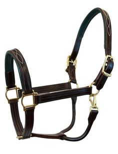 The Signature fancy stitched padded leather Walsh halter. Free engraved brass or silver nameplate included. Tack Trunk, Leather Halter, Horse Halters, Horse Supplies, Thing 1, Equestrian, Pairs, Fancy, Brass