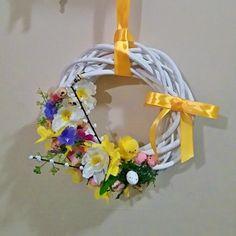 #wiosna #dekoracje #Wielkanoc #wianek #kwiaty #recznierobione #dekoracje #wianuszek #wieniec #spring #easter #wreath #decoration #diy #handmade #outdoor #flowers