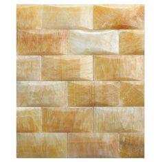 Honey Onyx Mosaic Polished 2x4 Pillowed