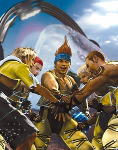 Final Fantasy X - CG Artwork, Wakka & Aurochs