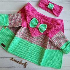Best 10 Ç @ anna_burko # # autumn # bag . Crochet Baby Jacket, Crochet Baby Sweaters, Knitted Baby Cardigan, Knitted Baby Clothes, Baby Blanket Crochet, Crochet Clothes, Baby Knitting, Knitting Yarn, Crochet Toddler