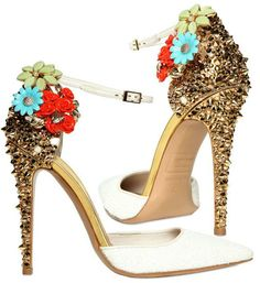 Dsquared2 Lalique Studs and Flower Pumps