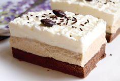 Řezy Caffé Latte Sweet Desserts, Sweet Recipes, Cake Recipes, Dessert Recipes, Slovak Recipes, Czech Recipes, European Dishes, Cake Bars, Pavlova