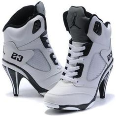 http://www.asneakers4u.com/ Nike Air Jordan 5 High Heels White Black