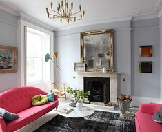 This makes me want hot pink couches! (Georgian House Envy From Light Locations via Decor8)