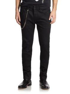 Diesel Straight Leg Biker Jeans   Pants, Clothing and Workwear