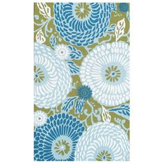 I pinned this Dandelion Rug in Blue from the Bright & Bold Outdoor Rugs event at Joss and Main!