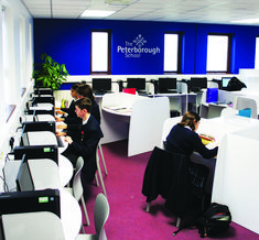 The Peterborough School Sixth Form Study Centre School Six, School Building, Classroom Design, Peterborough, Funky Furniture, Imagines, Learning Environments, Learning Centers, Building Ideas
