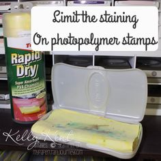 How to avoid staining on photopolymer stamps
