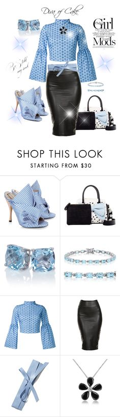 """""""Black and Blue"""" by kercey ❤ liked on Polyvore featuring N°21, Betsey Johnson, Amanda Rose Collection, Daizy Shely, New York & Company and Del Gatto"""