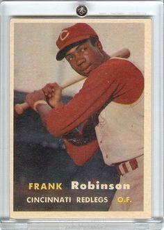 1957 Topps 35 FRANK ROBINSON RC Rookie Baseball Card Cincinnati Reds Orioles HOF