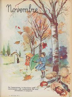 drawings of babies Images Vintage, Vintage Pictures, Vintage Posters, Vintage Art, Edith Holden, Art And Illustration, Vintage Calendar, Nature Journal, Autumn Art