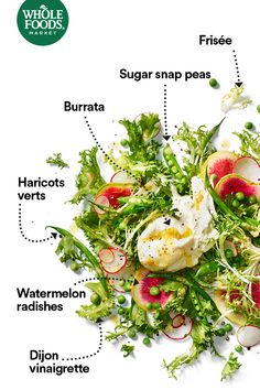 Dress, toss, eat. Like, favorite, share. The spring collection is in. #Salad #MakesMeWhole
