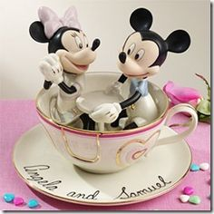 Disney Wedding Cake Toppers -- SERIOUSLY, this WILL be on my wedding cake. I love Disney.