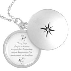Serenity Prayer Silver Necklace