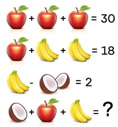 Hádanky a hlavolamy | Kryptograf.sk Brain Training Games, Brain Games, Math Games, Number Puzzles, Maths Puzzles, Spot The Difference Kids, Picture Puzzles, Banana, Fruit