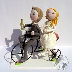 Bicycle Wedding Cake Topper Handmade Original And Exclusive Piece