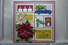 Marianne Design, Collages, Christmas Cards, Frames, December, Scrapbooking, Layout, Handmade, Everything