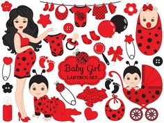 ITEM: Baby Ladybug Clipart - Vector Baby Ladybug Clipart, Baby Shower Ladybug Clipart, Pregnancy Clipart, Ladybird Baby Girl Clipart, Baby Ladybug Clip Art for Personal and. Baby Girl Clipart, Baby Shower Clipart, Ladybug Girl, Bicycle Wedding, Girls Clips, Baby Clip Art, Retro Girls, My Son Birthday, Cute Snowman