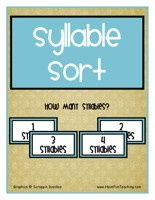 Language Arts center printable ideas!!