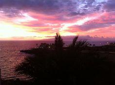 Bahia Principe Hotel Costa Adeje Tenerife looks out to a beautiful sunset.