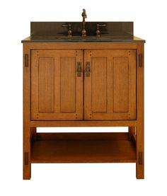 Sagehill Designs AC3021 30 Oak Wood Vanity Cabinet with Two Doors from the American Craftsman Collection