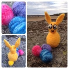 Needle and wet felted Easter bunny