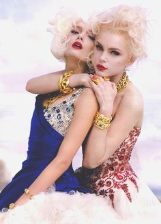 """vuittonable: """"lily donaldson and jessica stam in """"in your dreams"""" by sebastian faena for v #53 may/june 2008 """""""