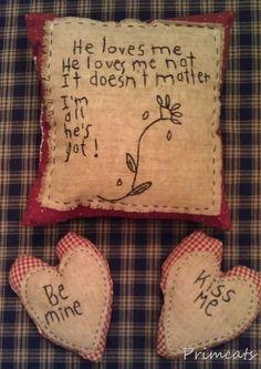 Prim Valentine pillow