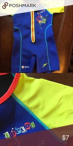 Speedo Kids UV Thermal Suit, 2015 Version Some signs of wear under the left arm pit otherwise in great condition! Speedo Swim Rashguards