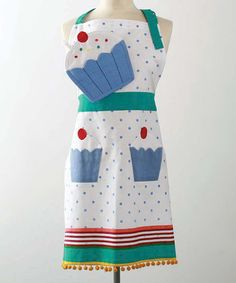 Take a look at this tag Cupcake Apron  Oven Mitt - Adult by Birthday Baking Collection on #zulily today!