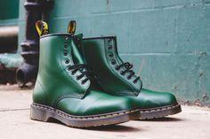 Dark green Dr Martens 1460 boots